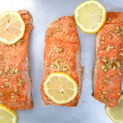 Baked Honey Dijon and Garlic Salmon