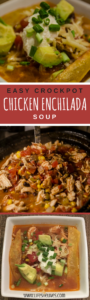 Easy Crock pot Chicken Enchilada Soup