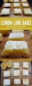 lemon lime bars 1 113x300 - Lemon Lime Bars With Shaved Coconut
