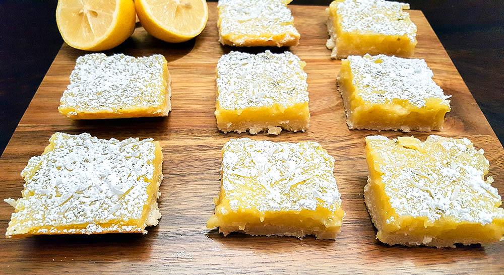 lemonbars1 1000w 1 - Lemon Lime Bars With Shaved Coconut