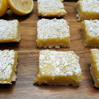 Lemon Lime Bars With Shaved Coconut