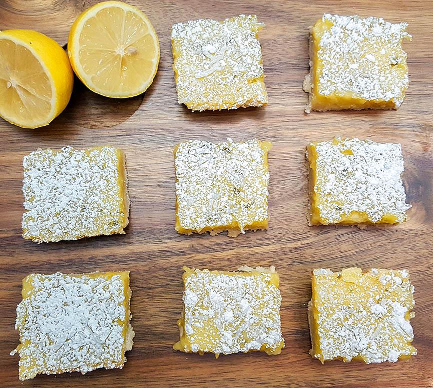 lemonbars2 1000w 1 - Lemon Lime Bars With Shaved Coconut