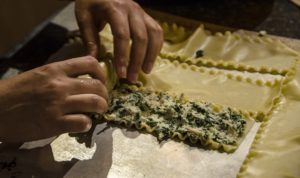 Chicken & Spinach Lasagna Roll ups