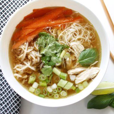 Vietnamese Pho Ga: Chicken Noodle Soup