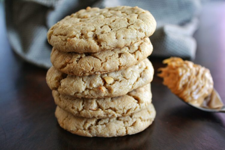 Soft & Chewy Peanut Butter Oatmeal Cookies
