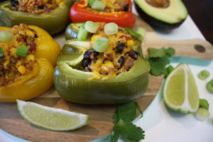 Santa Fe Quinoa Stuffed Peppers