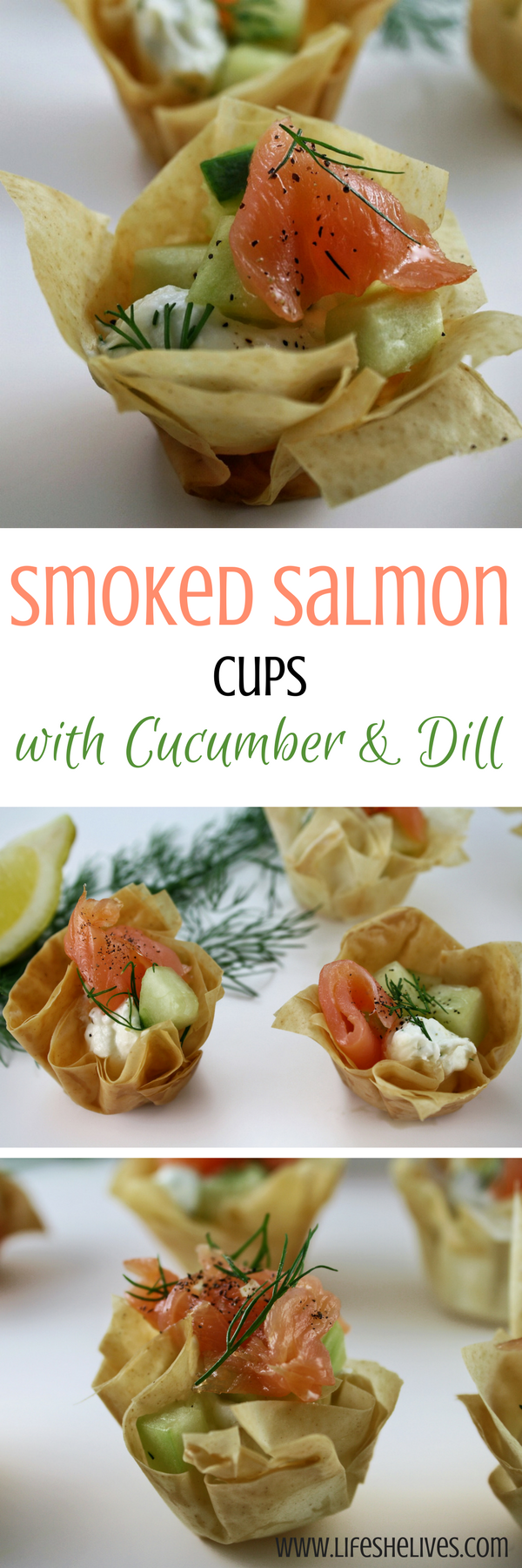Smoked Salmon Cups With Cucumber & Dill