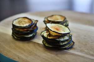 Baked Parmesan Zucchini Chips Two Ways