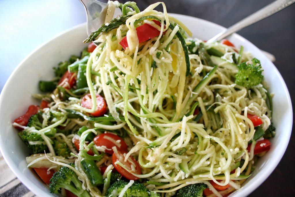 Primavera Zucchini Noodles (Zoodle Salad)