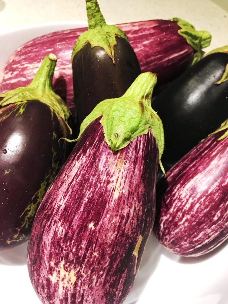 Crispy Eggplant Napoleon with Pesto and Garlic