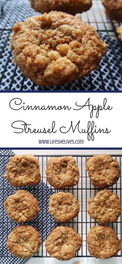 Cinnamon Apple Streusel Muffins