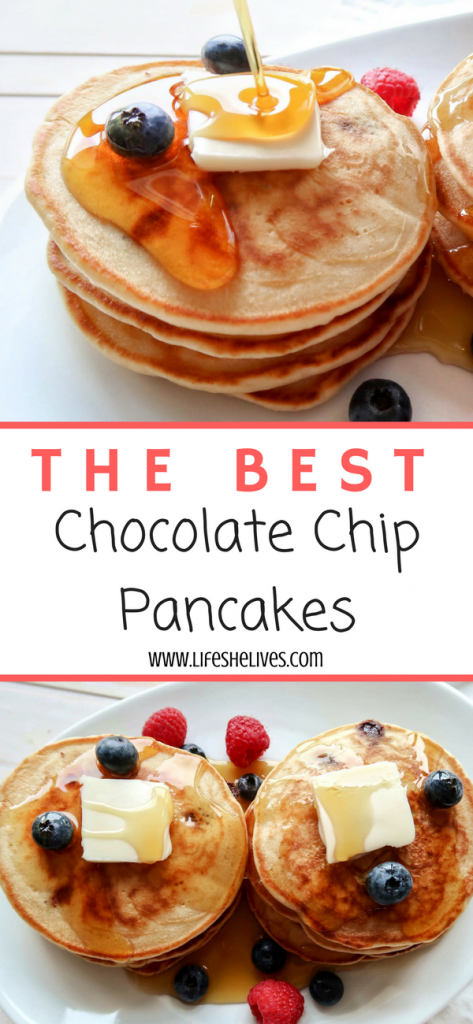 Best Homemade Chocolate Chip Pancakes