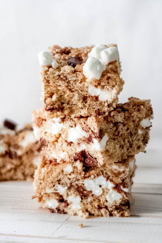 smores rice krispie treats 2 683x1024 - S'mores Rice Krispie Treats