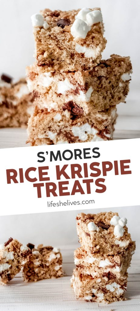 smores rice krispie treats pin 461x1024 - S'mores Rice Krispie Treats