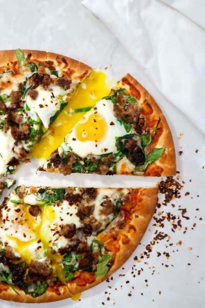 breakfast pizza 2 400x600 - Easy Tuscan Breakfast Pizza