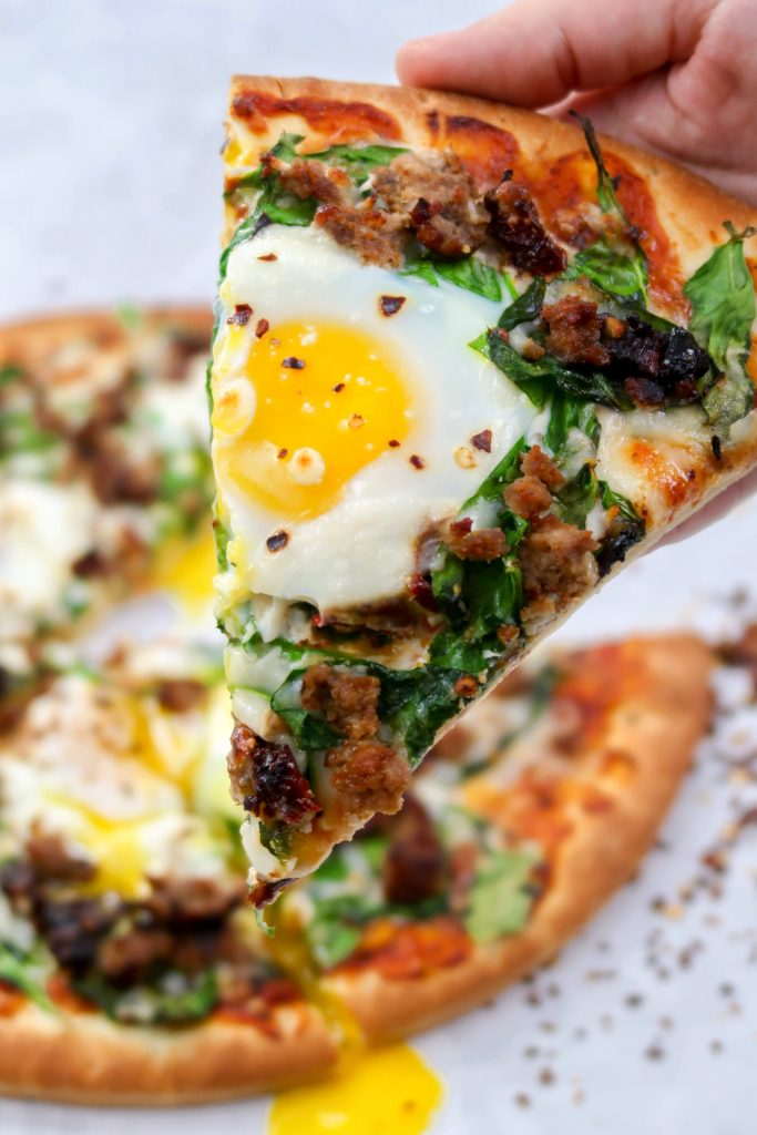 Easy Tuscan Breakfast Pizza