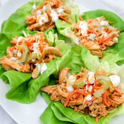 Kickin' Buffalo Chicken Lettuce Wraps (Sous Vide)