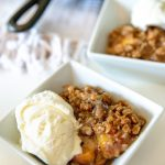 bourbon peach crisp 3 square 150x150 - Warm Bourbon Peach Crisp (with Vanilla Bean Ice Cream)