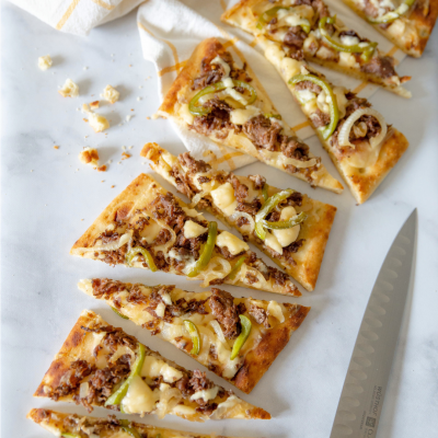 philly cheesesteak square 400x400 - Philly Cheesesteak Flatbread