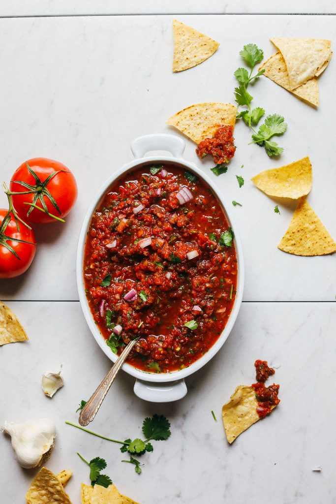 easy party appetizers in 30 minutes or less easy red salsa 683x1024 - 17 Easy Party Appetizers You Can Make in 30 Minutes or Less
