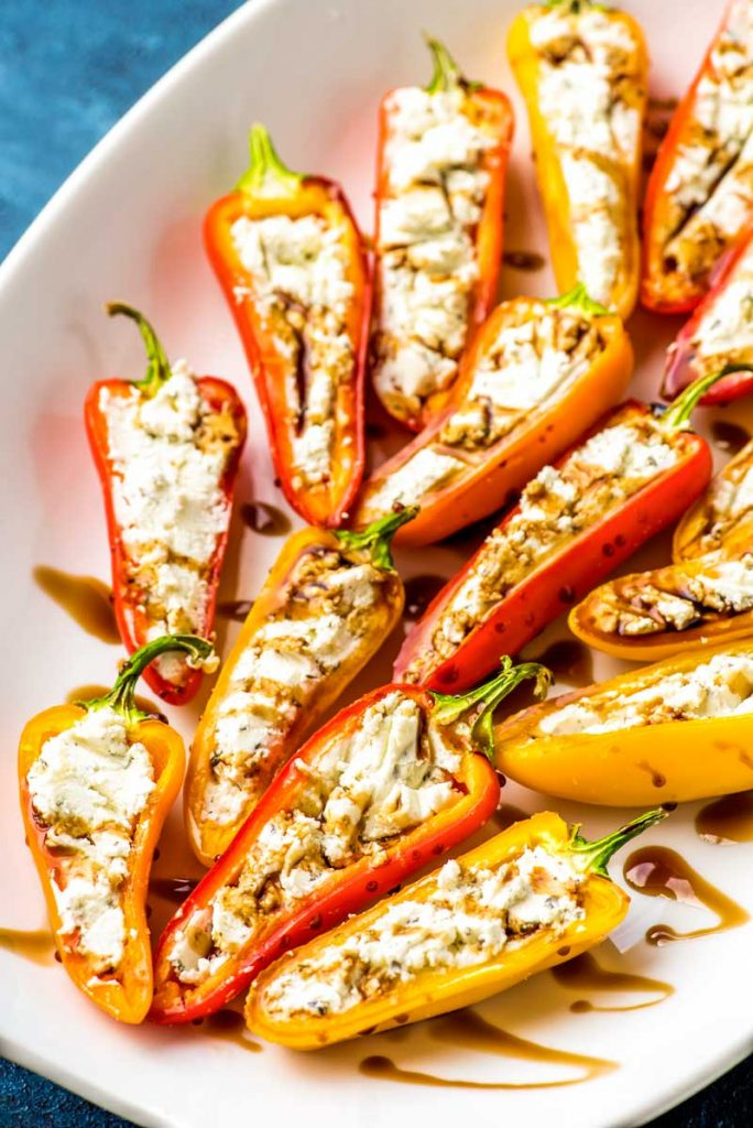 easy party appetizers in 30 minutes or less goat cheese stuffed mini peppers 684x1024 - 17 Easy Party Appetizers You Can Make in 30 Minutes or Less