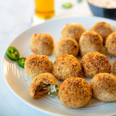 air fryer jalapeno popper balls 7 400x400 - Crunchy & Gooey Air Fryer Jalapeno Popper Balls