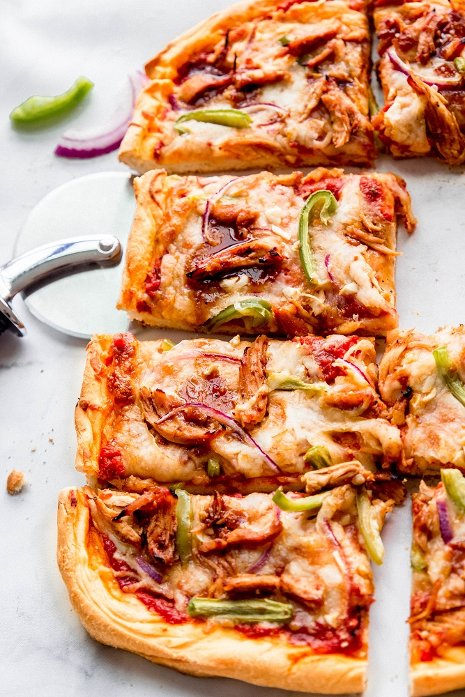 Sweet Whiskey BBQ Chicken Pizza