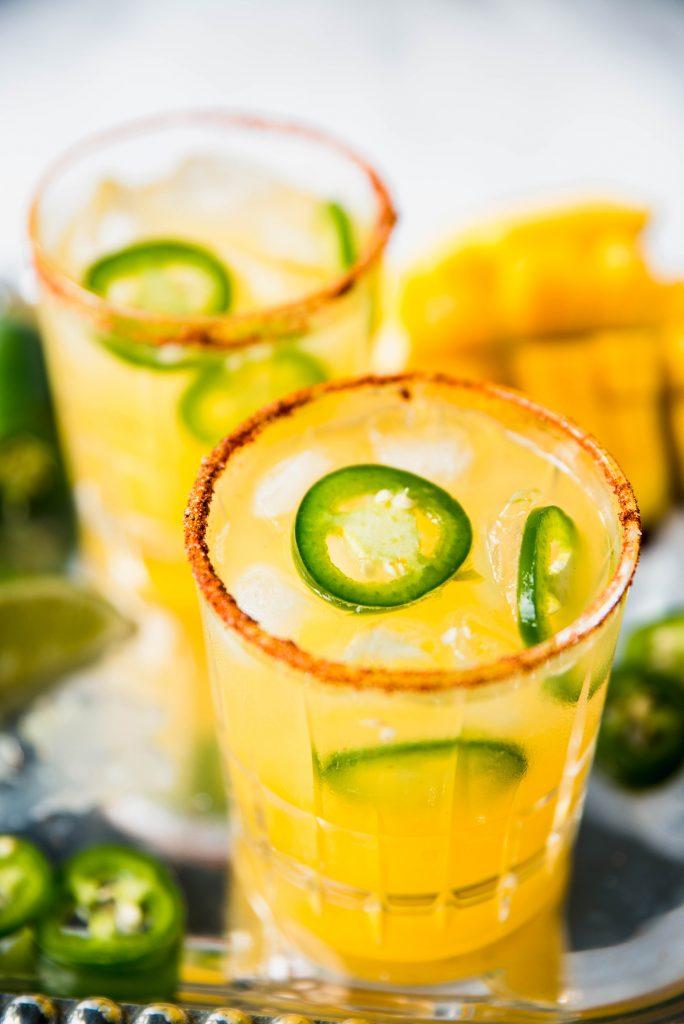 Spicy Margaritas 684x1024 - Spicy Mango Margaritas