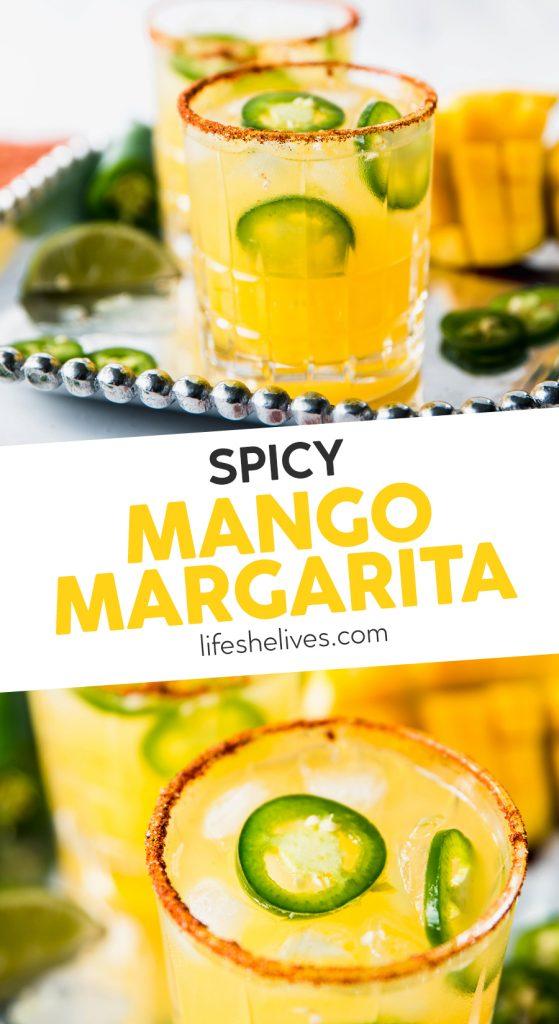spicy mango margarita 559x1024 - Spicy Mango Margaritas