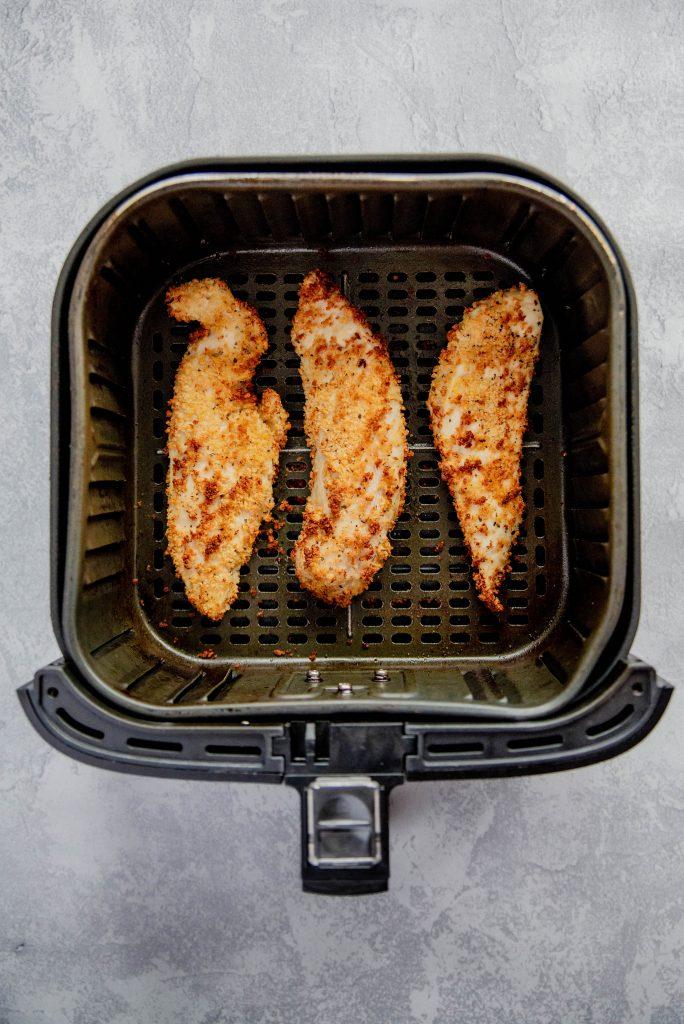 Air Fryer Chicken Tenders 3 684x1024 - Crispy Air Fryer Chicken Tenders